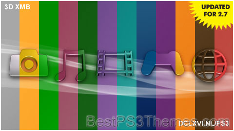 3D XMB Colors 1.0 Theme Preview