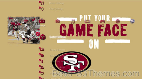 49ers - Put Your Game Face On Theme