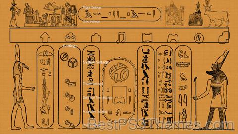 Ancient Egypt Hieroglyphics Theme