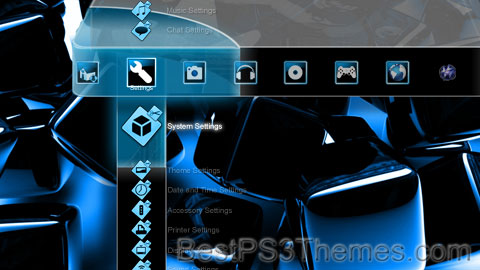 Blue Shine V2HD Theme Preview