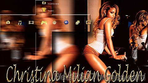 Christina Milian Golden Theme