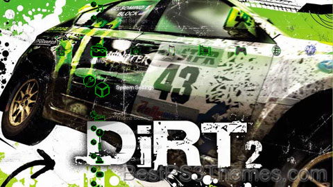 Colin McRae Dirt 2 HD Theme Preview