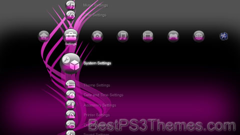 Electric Pink Orbs Theme