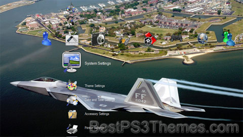 f 22 raptor wallpaper. F22 Raptor theme by
