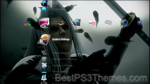 Final Fantasy 7 Sephiroth HD Theme Preview