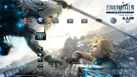 Final Fantasy: Advent Children HD Theme Preview