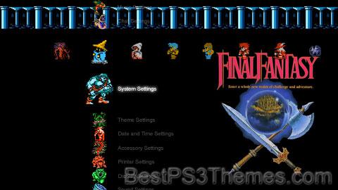 Final Fantasy I + Sounds Theme