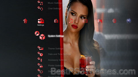 Jessica Alba Red Theme