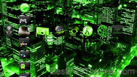 Lime Green PSN@HOME Theme