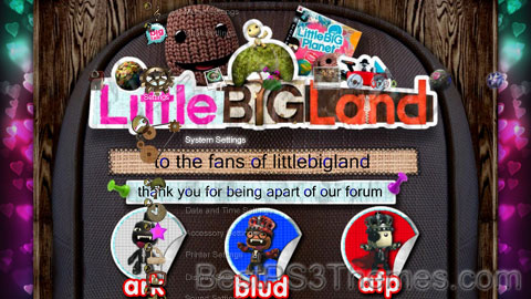 LittleBigPlanet/LittleBigLand Theme Preview
