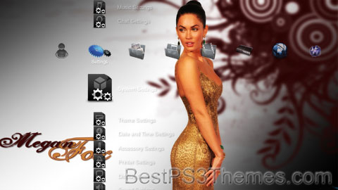 Megan Fox PS3 Theme