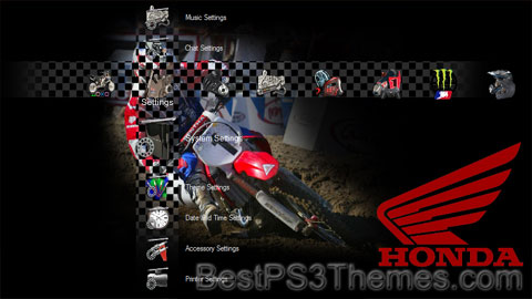 Motocross Honda Theme