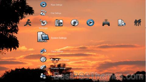Orange Sunset Theme