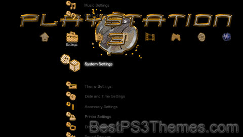 Playstation Gold Theme