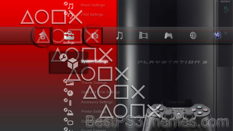 PS3 RED (2.41 Icons) Theme