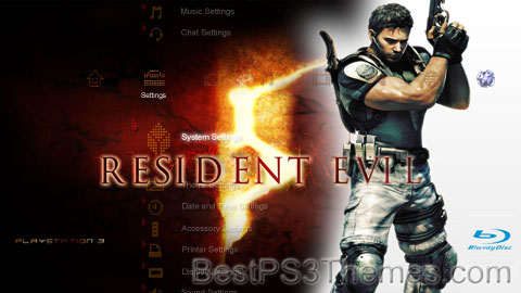 Resident 5 Chris Redfield Theme Preview