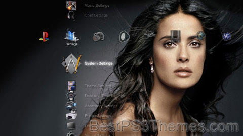 Salma Hayek HD Theme Preview
