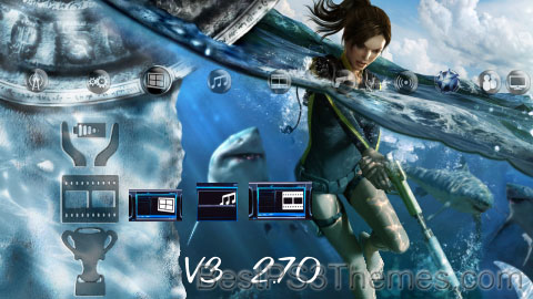 Tomb Raider Underworld Unofficial V3 Theme Preview