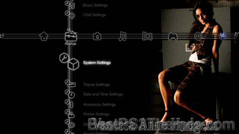 Vanessa Anne Hudgens PS3 Theme